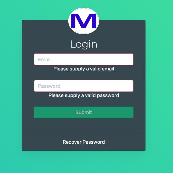 Client Login Screen
