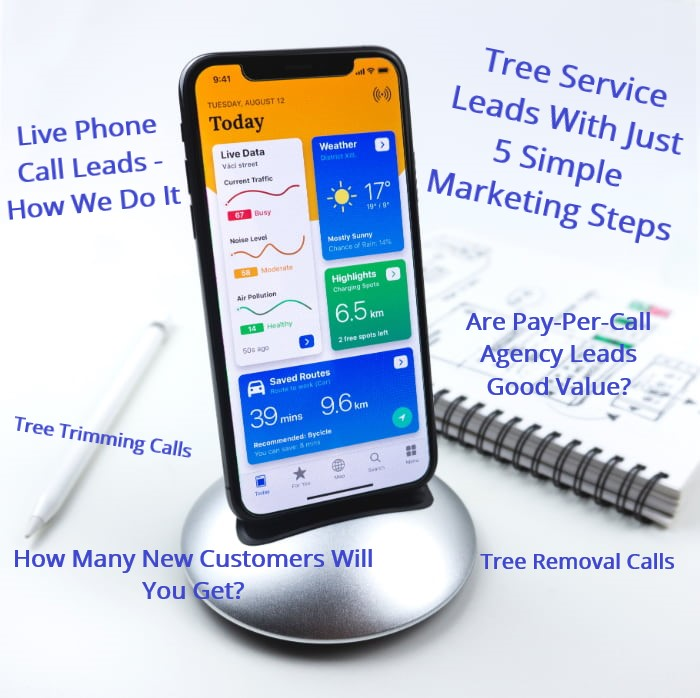 Business Phone Ringing With Tree Service Leads